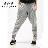 2012 spring Men harem pants low-rise pants casual pants