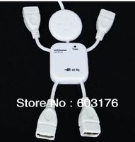 Free Shipping High Speed USB 2.0 Human Shape HUB Doll  Like Robot 4 USB port USB