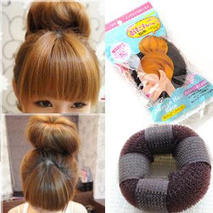 One lot 12 pcs(Mixed order) E6163 donuts band hair maker meatball head short hair tools headband !Wholesale jewelry