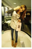 Fashion 2013 spring women's plus size slim hip basic Women T-shirt long-sleeve shirt