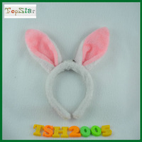 free shipping With flashing plush bunny headband 5pcs/lot