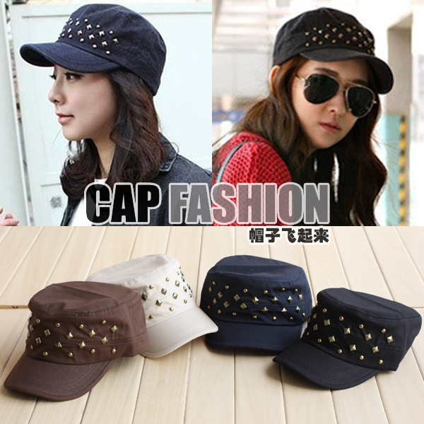 Fashion summer personality rivet navy cap cadet cap casual cap male female hat