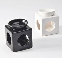 Aromatherapy furnace japanese style ceramic dish essential oil aromatherapy furnace white