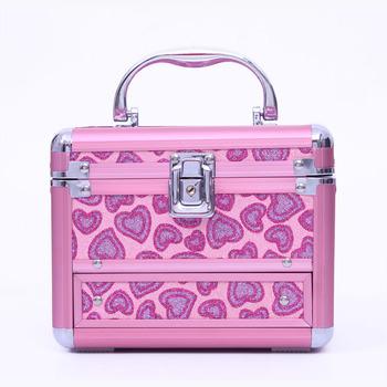 Spring princess fashion color aluminum powder wool storage box cosmetic box jewelry box