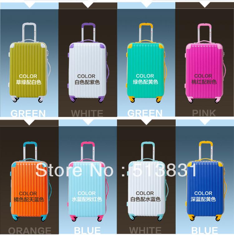Latest ! High Quality Fashionable Luggage Travel Luggage Trolley Suitcase Aluminum Draw Bar Luggage Sets- 20'' 24'' 28''(China (Mainland))