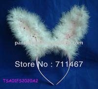 free shipping Feather sexy bunny headband latest headband designs 5pcs/lot