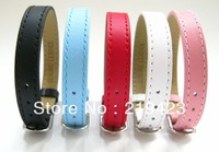 Genuine Leather Wristband 10pcs Fit 8mm Slide Charms slide letter and DIY charms can come through 8mm slide charms DIY charms