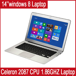 "14"" 4GB Ram,500GB ,HDD D2500 1.86GHZ CPU,integrated card Intel Dual Core,ultra slim laptop Multi language Windows 7 OS/Keyboard(China (Mainland))"