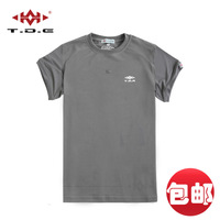 Tde tactical drill bit 2012 short-sleeve t-shirt o-neck quick-drying Men perspicuousness quick dry summer