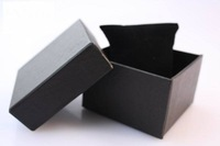 Free shipping 30PCS NEW Paper Watch Wrist watch Gift packing boxes with Pillow Black Hotsale watch box case jewelry package box
