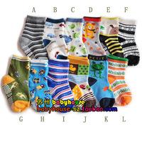 Kid's socks slip-resistant male child cotton socks  baby cartoon socks 1 - 3 years old