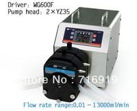 WG600F Intelligent Industrial Peristaltic Pump  for water pumps fluid / 2 X YZ35 Pump head