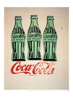 handpainted oil painting three coke bottles reproduction by Andy warhol for home and hotel decoration