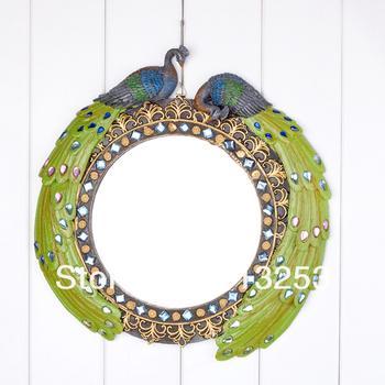 Sri Lanka  Style  Peacock Embossment Resin Mirror / Wall Mirror / Home Decor Mirror. ID:A0109208