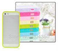 matter soft edge bard back cover Plastic + TPU case For iphone 5 5S free shipping 20pcs/lot