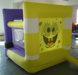 Free shipping+inflatable BounceS sponge bob +free CE/UL blower(China (Mainland))
