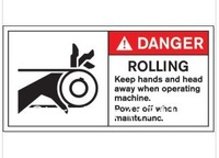 The international standard embroiled Note English warning marks equipment safety stickers
