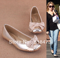 2013 bowknot flat shoes, new fashion women's shoes