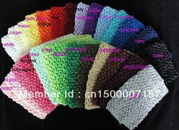Baby Elastic Tutu Tube Waffle String Headbands 6 Inch Crochet Top Baby Headwear 20pcs/lot Free Shipping