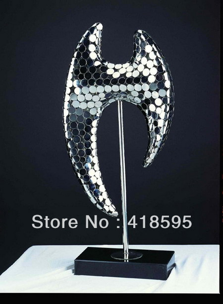 2013 artistic abstract sculpture in stainless steel JA0007H(China (Mainland))