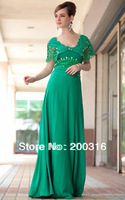 2013 Free Ship hot sale floor length green new sexy party dresses for women evening dress  party dresss