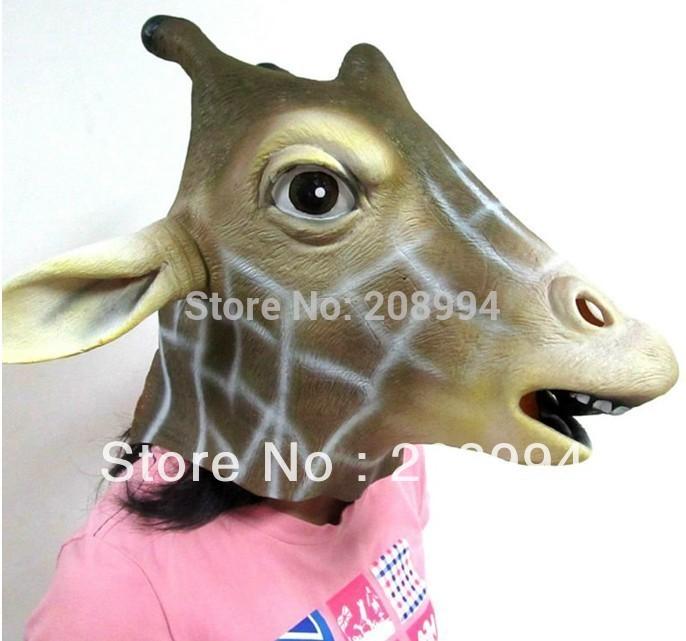 Latex Giraffe Mask Female Mask Girl Mask(China (Mainland))