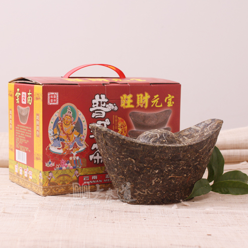 1kg puer yunnan 1000g puerh pu er yunnan pu erh technology ingot crafts large gold ingot gift chinese china premium tops new(China (Mainland))