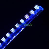 BLUE 24cm 24 SMD LED Flexible Neon Strip Light Car Van 12V New Waterproof