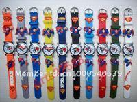 Free Shipping 30 pcs/lot Superman Action Figure Children Girls Kids Boys Quartz Cartoon Watches Fashion watches,SB-001