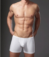 Cocksox male panties white 100% cotton bags ultra-low-waisted big male trunk