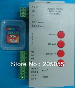 Programmable RGB LED Controller w/SD Card Led pixel controller WS2801 WS2811 LPD6803 LPD8806 DMX512 TM1803 UC1903  etc DC5-24V