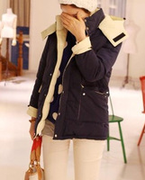 Duomaomao reversible down coat outerwear cotton-padded jacket thickening wadded jacket cotton-padded jacket with a hood