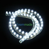 Waterproof White 62cm 48 SMD LED Flexible Neon Strip Light Car Van 12V New  FRE SHIIPPING