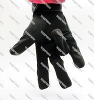 Carbon Fiber Hard Knuckle Tactical Gloves - Wrist Length With Hook/Loop Closure