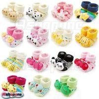 Cartoon Baby Girl Boy Anti-slip Socks Slipper Shoes Boots 0-6 Month