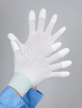 Free Shipping High Quality White Nylon PU Gloves Antistatic Clean Working Gloves Safety Protective Gloves 10 Pairs/Lot