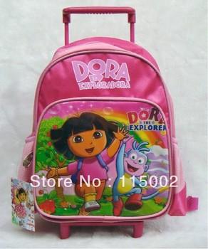 Nylon Dora the Explorer Dora Backpack Child School Bag Trolley Case