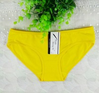 2013 spring brand butt lift shaper VS women panties mid waist lady panties yellow wholesale free shipping