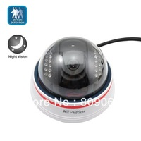 Night Vision and Motion Detection Alarm with Wired Dome IP Camera