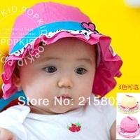 free shipping  wholesale 2014  hot sale M0069 baby hat child hat sun-shading bucket hat bucket hats
