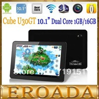 """Free shipping Wholesale Cube U30GT 10.1"""" android 4.1 tablet pc RK3066 Dual Core 1.6GHz 32GB Bluetooth HDMI Dual camera WIFI"""