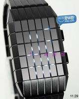 Steel strip square grid colorful watches watch vintage watch male table