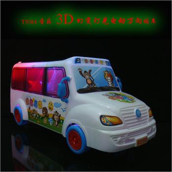 Music 3d cartoon school bus baby infant electric toy car