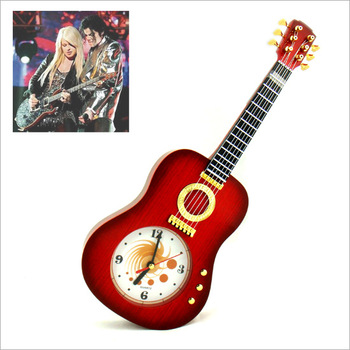 Novelty gift clock personalized decoration musical instrument wall clock fashion guitar wall clock tibesti wall clock