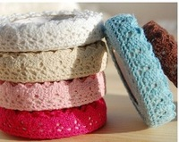 Free Shipping! sweet solid colors double lace style fabric lace tape /Multifunction/DIY Sticker/ Adhesive Tape/Wholesale