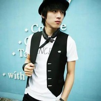 2013 male casual slim men's suit vest male vest casual small vest men's