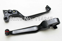 Black Brake Clutch Levers For Harley Davidson XL Sportster 833 / 1200 1998 1999 for Harley Davidson FLSTF Fat Boy 1996-2010
