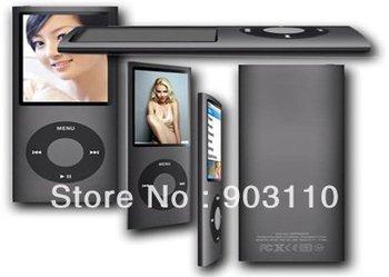 "ree shipping Slim 4TH 1.8""LCD MP3/MP4 speaker Video Radio FM Player For 2GB 4GB 8GB 16GB SD TF Card upto 8GB"