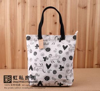 2013 spring women's bags neko cat backpack canvas bag women's handbag student school bag