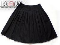 Original design black pleated skirt school wear uniform skirt